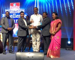 DPS group of schools receives Bsuiness Excellence award from Irrigation Minister T. Harish Rao