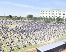 Yoga Day Celebrations at DPS Nadergul campus