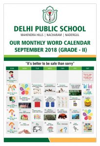 DPS September Calendar for Grade - 2