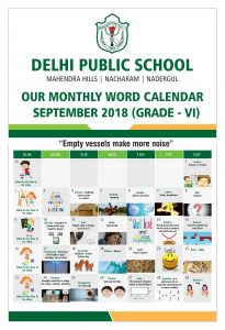 DPS September Calendar for Grade - 6